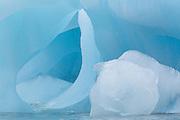 Glacial ice which has broken from the Austfonna glacier in Nordaustlandet Svalbard.