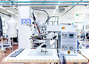 Leso, Novara province: Herno prototype clothing production.