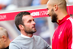 Stoke City manager Nathan Jones and Niki Maenpaa of Bristol City - Rogan/JMP - 14/09/2019 - Bet365 Stadium - Stoke, England - Stoke City v Bristol City - Sky Bet Championship.