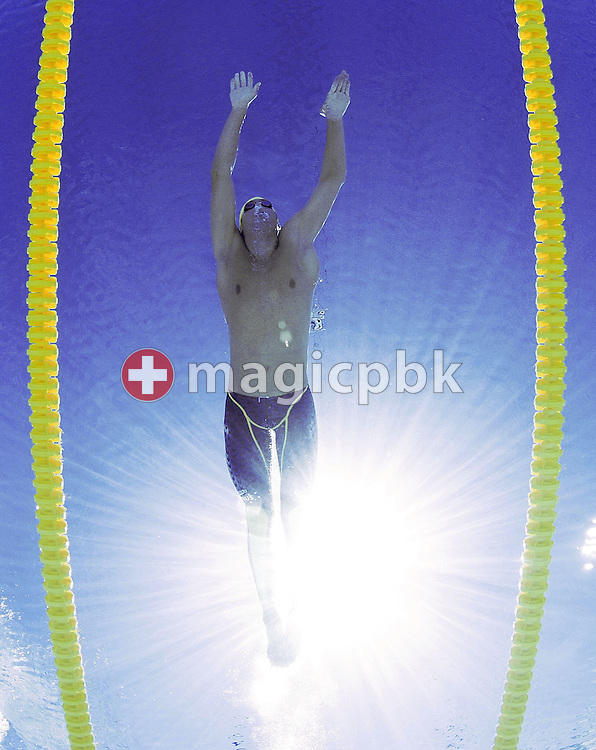 Australia's Grant Hackett swims in the final heat of the men's 1500m Freestyle at the FINA World Championships in Montreal, Canada Saturday 30 July, 2005.   (Photo by Patrick B. Kraemer / MAGICPBK)