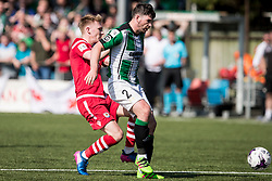 NEWTOWN, WALES - Sunday, May 6, 2018: Declan Walker of Aberystwyth Town and Danny Harrison of Connahs Quay Nomads during the FAW Welsh Cup Final between Aberystwyth Town and Connahs Quay Nomads at Latham Park. (Pic by Paul Greenwood/Propaganda)