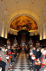 The ROYAL HOSPITAL CHAPEL at Carols from Chelsea in aid of the Institute of Cancer Research at the Royal Hospital Chapel, Chelsea, London on 1st December 2005.<br />