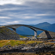 Storseisundet bru at Eide in Møre og Romsdal at the western coast of Norway. A bridge along the Atlanterhavsveien.