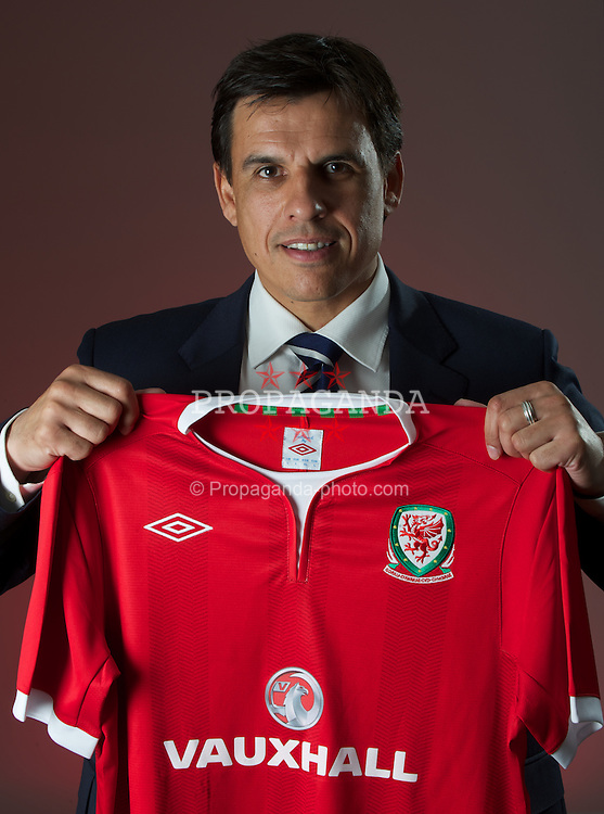 CARDIFF, WALES - Thursday, January 19, 2012: The Football Association of Wales appoints Chris Coleman as new Wales National team manager during a press conference at the St. David's Hotel. (Pic by David Rawcliffe/Propaganda)