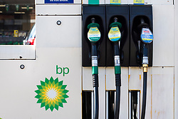 Petrol pumps in a BP garage in Hornsey, north London. BP is currently the 5th most valuable British brand, according to analysts Brand Finance's directory. Picture date: Thursday March 9, 2017. Photo credit should read: Matt Crossick/ EMPICS Entertainment.
