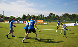 LIVERPOOL, ENGLAND - Wednesday, June 18, 2014: Coaches during Kids Day of the Liverpool Hope University International Tennis Tournament at Liverpool Cricket Club. (Pic by David Rawcliffe/Propaganda)