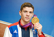 """Olympic Games London 2012 <br /> Boxing Medalists' Press Conference at Team GB House, Stratford, London, Great Britain <br /> 13th August 2012 <br /> <br /> """"Britain's boxers finished top of the pile with five medals, three of them Gold plus a Silver and  Bronze"""".<br /> <br /> Gold Medalists <br /> <br /> Luke Campbell (Bantamweight) <br /> <br /> <br /> <br /> <br /> Photograph by Elliott Franks"""