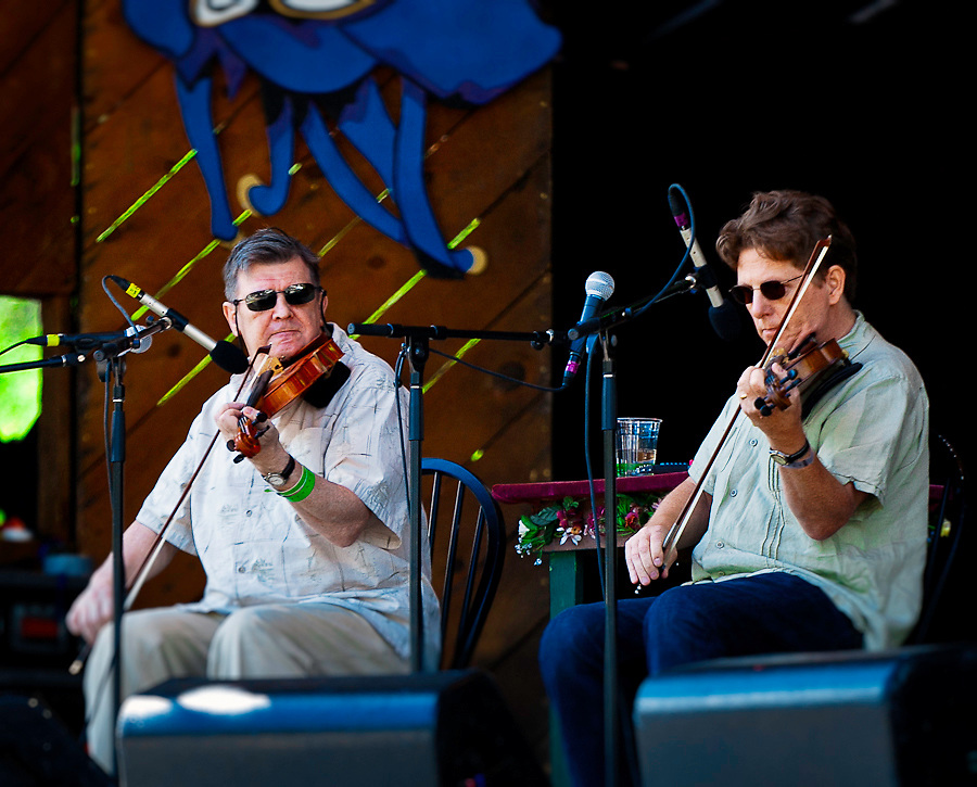 Kevin Burke and Tim O'Brien at Telluride Bluegrass 2011