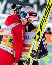 16.03.2019, Vikersundbakken, Vikersund, NOR, FIS Weltcup Skisprung, Raw Air, Vikersund, Teambewerb, im Bild Jakub Wolny (POL), Kamil Stoch (POL) // Jakub Wolny of Poland Kamil Stoch of Poland during the team competition of the 4th Stage of the Raw Air Series of FIS Ski Jumping World Cup at the Vikersundbakken in Vikersund, Norway on 2019/03/16. EXPA Pictures © 2019, PhotoCredit: EXPA/ JFK