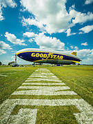 The new Goodyear Blimp. Created during AirVenture 2015 in Oshkosh, Wisconsin.  <br />