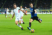 Ivan Perisic of Inter and Kevin Strootman of AS Roma during the Italian championship Serie A football match between FC Internazionale and AS Roma on January 21, 2018 at Giuseppe Meazza stadium in Milan, Italy - Photo Morgese - Rossini / ProSportsImages / DPPI