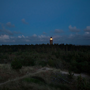 Lodbjerg Light House is inland off the West coast of Denmark near Thyborøn. It is situated in Thy National Park, a land scape of fir trees, heathland and sand dunes.