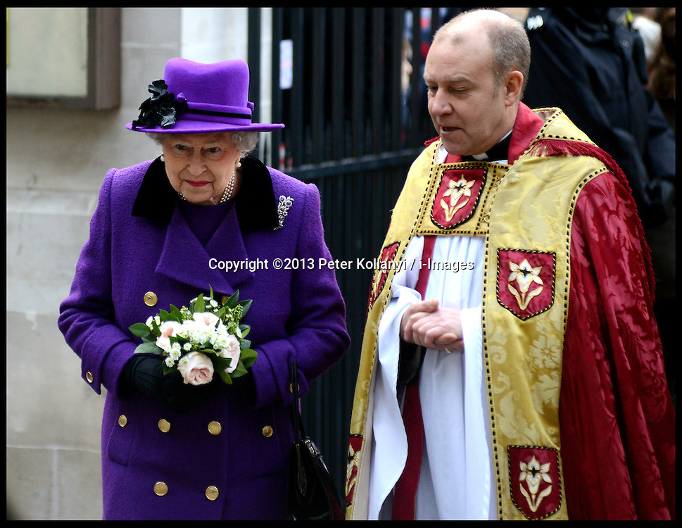 The Queen visits Southwark Cathedral. The Queen during a visit to Southwark Cathedral. Southwark Cathedral, London, United Kingdom. Thursday, 21st November 2013. Picture by Peter Kollanyi / i-Images