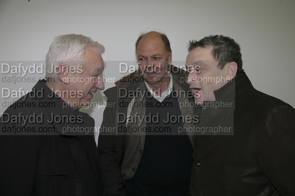Michael Craig-Martin, Nicholas Logsdail and Norman Rosenthall, Aperiatur Terra, Private View of work by  Anselm Kiefer<br />