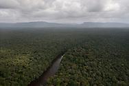 Flying over the Potaro River, Guyana.
