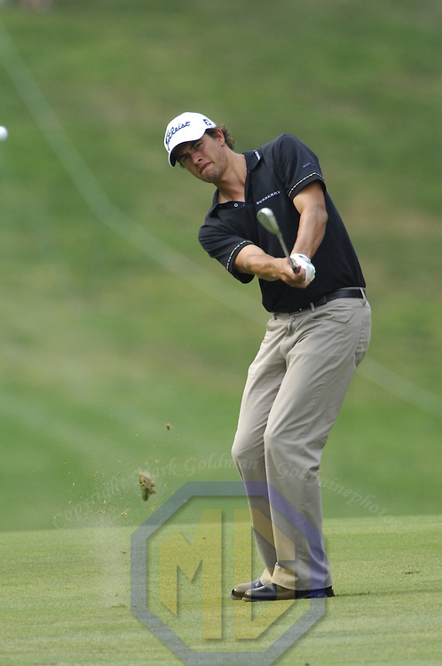 05 July 2007:  Adam Scott in the first round of the inaugural AT&T National PGA event at Congressional Country Club in Bethesda, Md. The proceeds of the golf tournament will benefit the Tiger Woods Foundation and local charities.   ****For Editorial Use Only