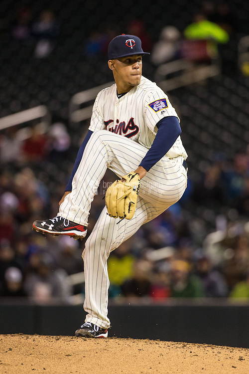 MINNEAPOLIS, MN- APRIL 27: Jose Berrios #17 of the Minnesota Twins pitches during his MLB debut against the Cleveland Indians on April 27, 2016 at Target Field in Minneapolis, Minnesota. The Indians defeated the Twins 6-5. (Photo by Brace Hemmelgarn) *** Local Caption *** Jose Berrios