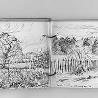 Sketches in West Sussex, England.