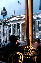 IRELAND DUBLIN JUL99 - A view of the GPO from the Cafe Kylemore on the opposite side of Dublin's busy O'Connell Street. Opened in 1818, almost a century later it came to fame as the rebel headquarters in one of the most significant battles in the fight for independence. ..jre/Photo by Jiri Rezac..© Jiri Rezac 1999..Contact: +44 (0) 7050 110 417.Mobile: +44 (0) 7801 337 683.Office: +44 (0) 20 8968 9635..Email: jiri@jirirezac.com.Web: www.jirirezac.com..© All images Jiri Rezac 1999 - All rights reserved.