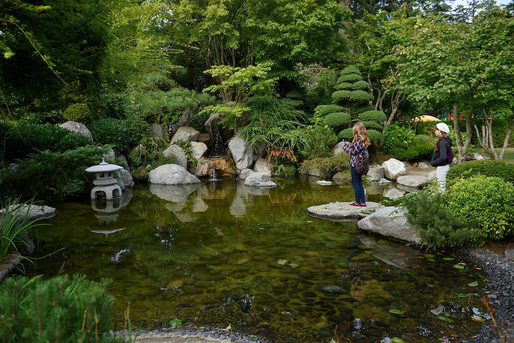 Canada, British Columbia,Hope, rock garden in town square