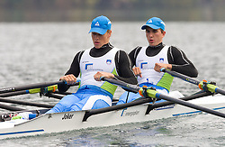 Jure Cvet and Matevz Malesic during media day of Slovenian National rowing team before World Championships in New Zealand 2010 on October 14, 2010 in Mala Zaka, Bled, Slovenia. (Photo by Vid Ponikvar / Sportida)