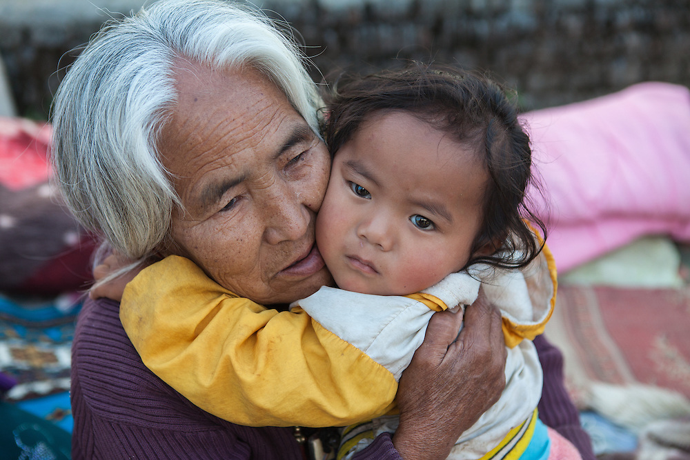 Sange Lama (15months,m) and grandmother Jemu Lama (72)