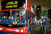 People leaving bus line 30 on Friday July 8, 2005 in London , England. This busline was bombed a day earlier in London on Juli 7 2005.