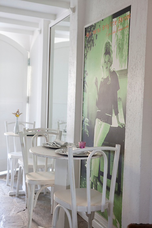 Pictures of Brigitte Bardot at Cigalon restaurant at Pousada do Sol.