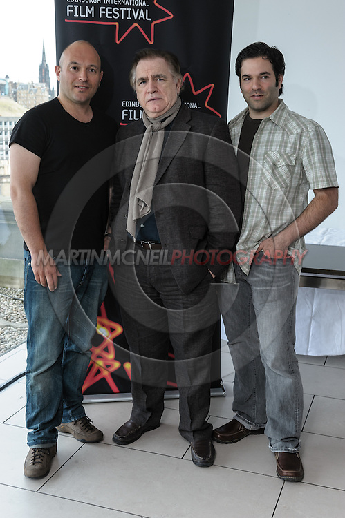 EDINBURGH, SCOTLAND, JUNE 21, 2008: (L to R) Trygve Allister Diesen, Brian Cox and Stephen Susco attend a photocall during the 62nd annual Edinburgh International Film Festival inside the Point Conference Center on Saturday, June 21, 2008 in Edinburgh, Scotland (Martin McNeil)