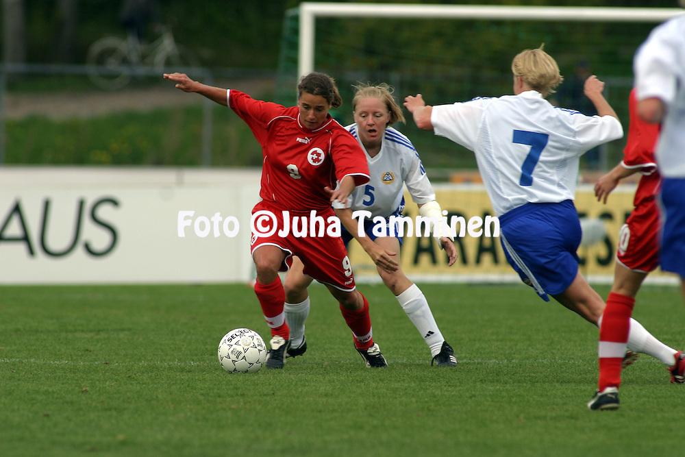 01.06.2003, Lepp?vaara, Espoo, Finland..UEFA Womens European Championship Qualifying match, Finland v Switzerland.Sylvie Gaillard - Switzerland.©Juha Tamminen