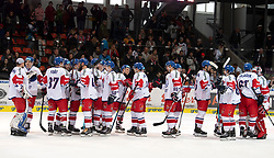 13.04.2019, Keine Sorgen Eisarena, Linz, AUT, Euro Hockey Challenge, Österreich vs Tschechien, Länderspiel, im Bild Tschechien gewinnt in Linz // during the international friendly match between Austria and Czech Republic, as part of the Euro Hockey Challenge at the Keine Sorgen Eisarena in Linz, Austria on 2019/04/13. EXPA Pictures © 2019, PhotoCredit: EXPA/ Reinhard Eisenbauer