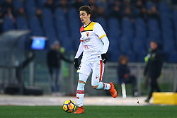 February 11, 2018 - Rome, Italy - Flip Djuricic of Benevento during the serie A match between AS Roma and Benevento Calcio at Stadio Olimpico on February 11, 2018 in Rome, Italy. (Credit Image: © Matteo Ciambelli/NurPhoto via ZUMA Press)