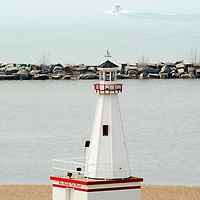 Photo of the lighthouse in New Buffalo, Michigan.