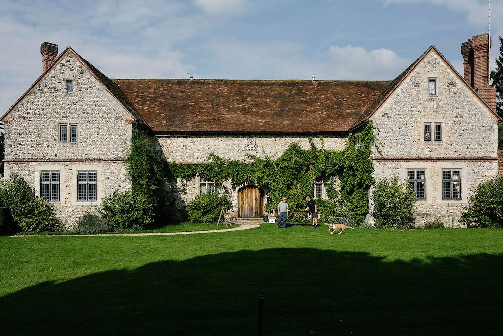 A cottage on the grounds of the Chawton House Library Estate.