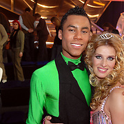 NLD/Baarn/20070221 - Live uitzending RTL Dancing on Ice, Antonie Wanders en schaatspartner Nancy