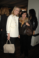 Left to right, LADY BELL and PILAR BOXFORD at a lunch hosted by Ralph Lauren to present their Spring 2007 collection in support of the Serpentine Gallery's Education Programme, held at Fifty, 50 St.James's Street, London SW1 on 20th March 2007.<br /><br />NON EXCLUSIVE - WORLD RIGHTS