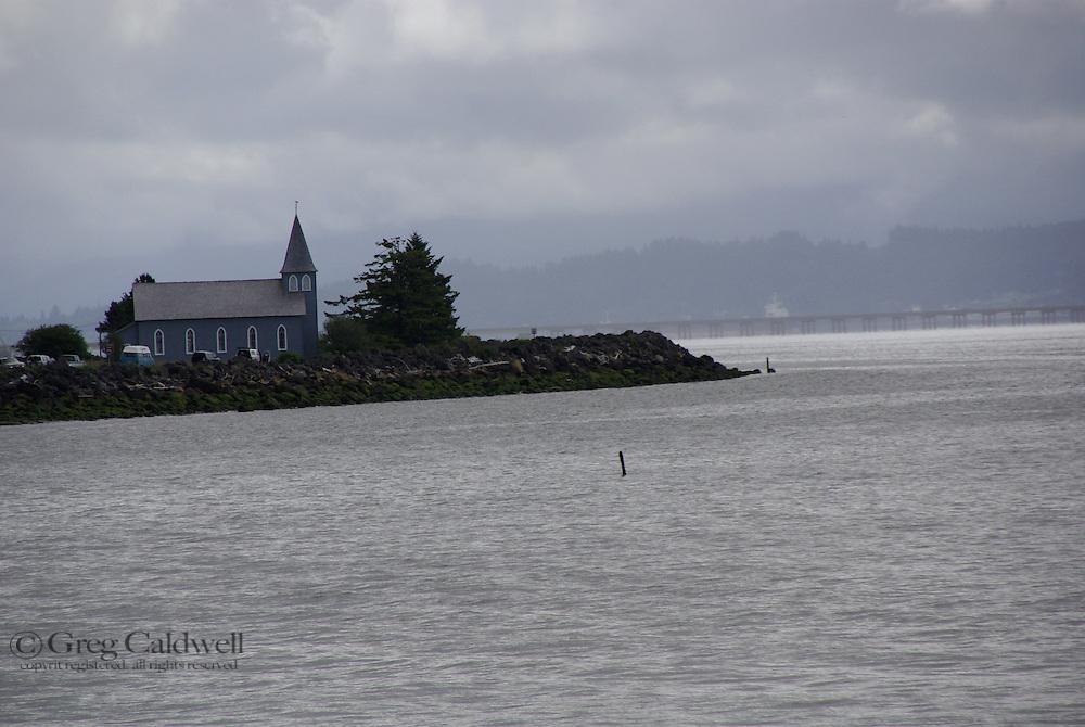 Columbia River Bridge,foggy morning, first weekend of salmon fishing,