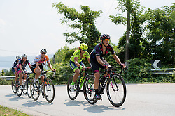 Barbara Guarischi (CANYON//SRAM Racing) leads the second group up the climb at the final stage of the Giro Rosa 2016 on 10th July 2016. A 104km road race starting and finishing in Verbania, Italy.