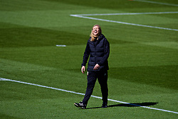 SOUTHAMPTON, ENGLAND - Thursday, April 5, 2018: Wales' manager Jayne Ludlow during a training session at St. Mary's Stadium ahead of the FIFA Women's World Cup 2019 Qualifying Round Group 1 match against England. (Pic by David Rawcliffe/Propaganda)
