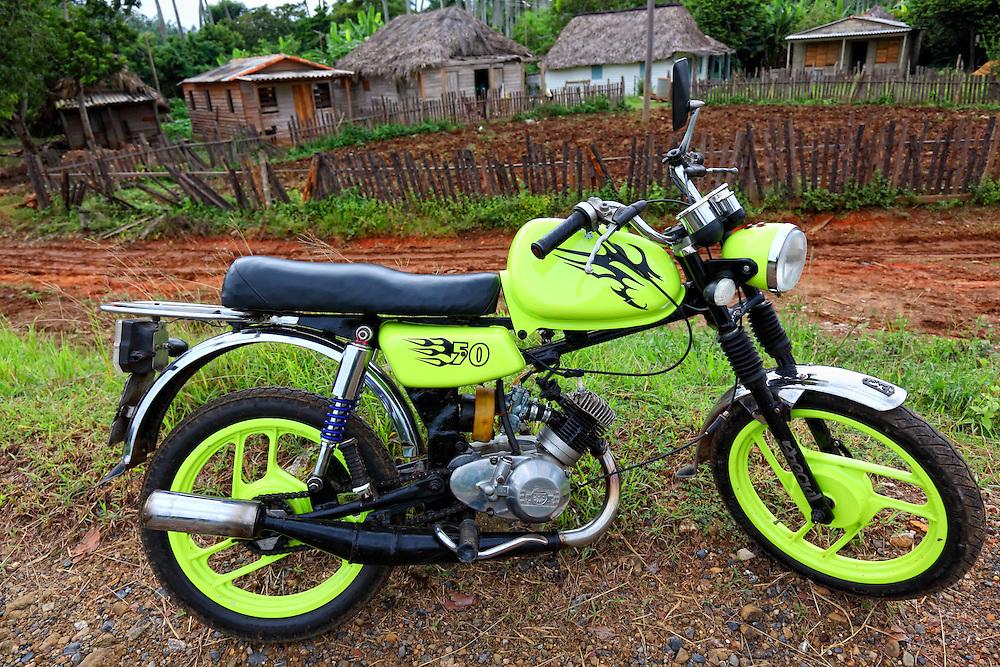Motorcycle in La Palma, Pinar del Rio, Cuba.