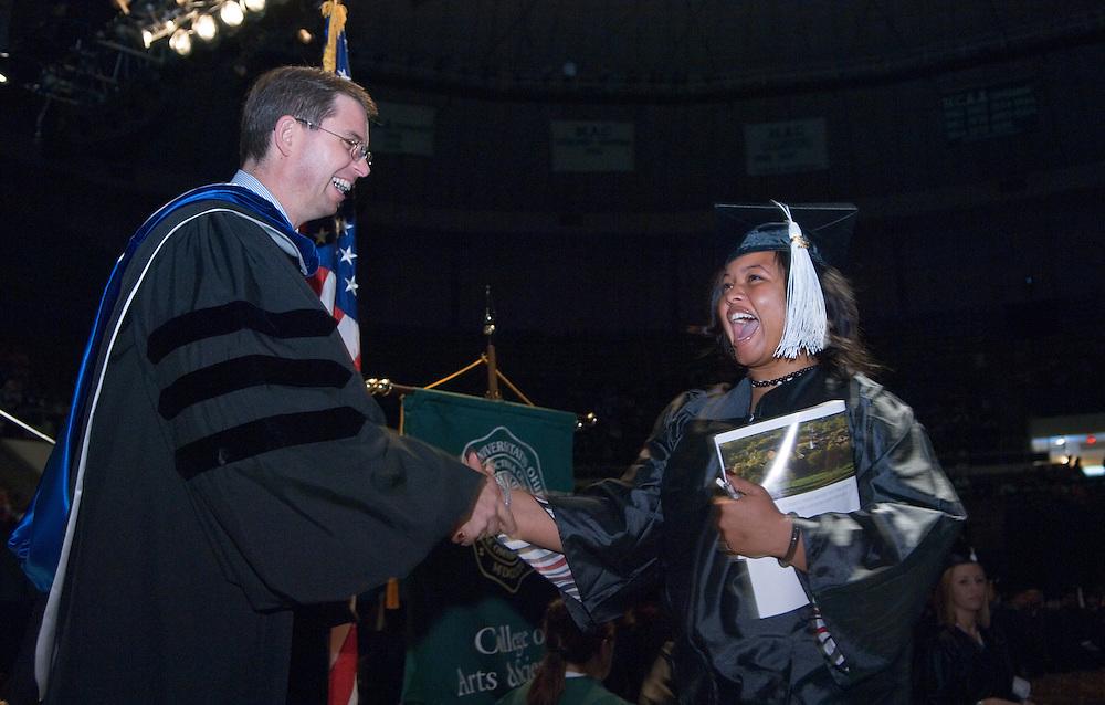 18276Undergraduate Commencement 2007..Dean Ogles & Cherice M Byrd