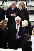Former House Speaker Newt Gingrich arrives with his wife Callista Gingrich for the Inauguration of President-elect Donald Trump as the 45th President on Capitol Hill January 20, 2017 in Washington, DC.