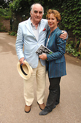 Actress CELIA IMRIE and IAN TALBOT Artist Director of the Regent's Park Theatre at a lunch party to celebrate the publication of David Conville's book The Park, held at Regent's Park Open Air Theatre, London o  6th June 2007.<br />