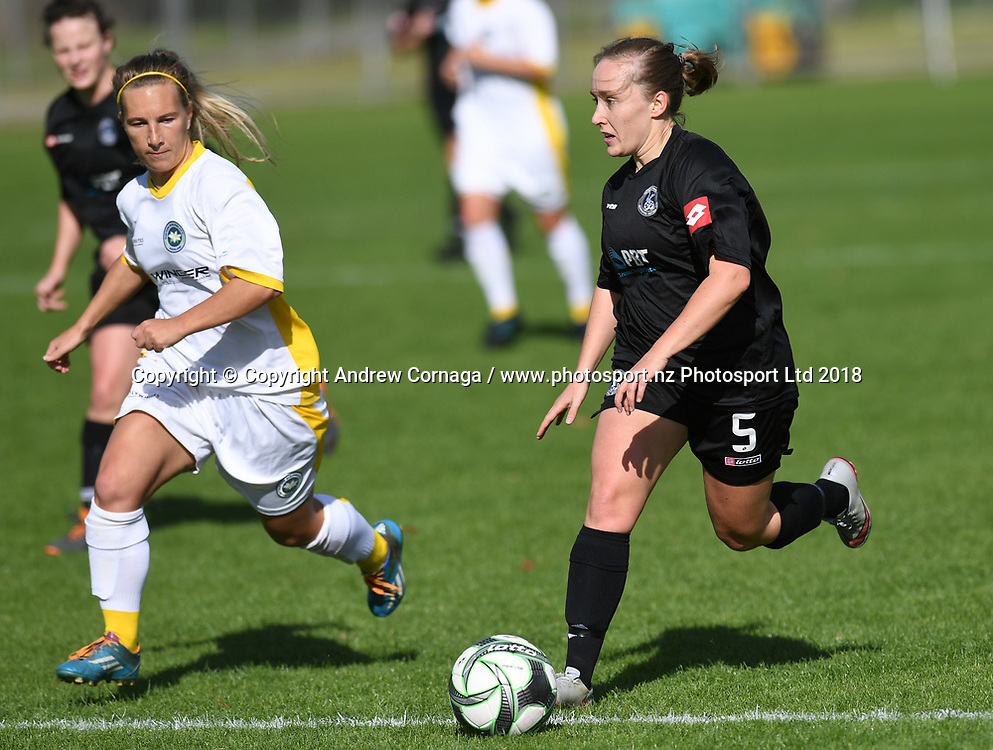 WSAFC's Lily-Rose Dyer.<br /> Eastern Suburbs v Western Springs, Premier Division 1 Women's football match, Madills Farm, Auckland, Sunday 20 May 2018. &copy; andrew cornaga / www.photosport.nz