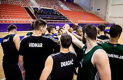Practice session of Slovenian National team 1 day prior to the basketball match between National Teams of Slovenia and Ukraine in Round of 16 of the FIBA EuroBasket 2017, at Ahmet Cömert Sports Hall in Istanbul, Turkey on September 8, 2017. Photo by Vid Ponikvar / Sportida