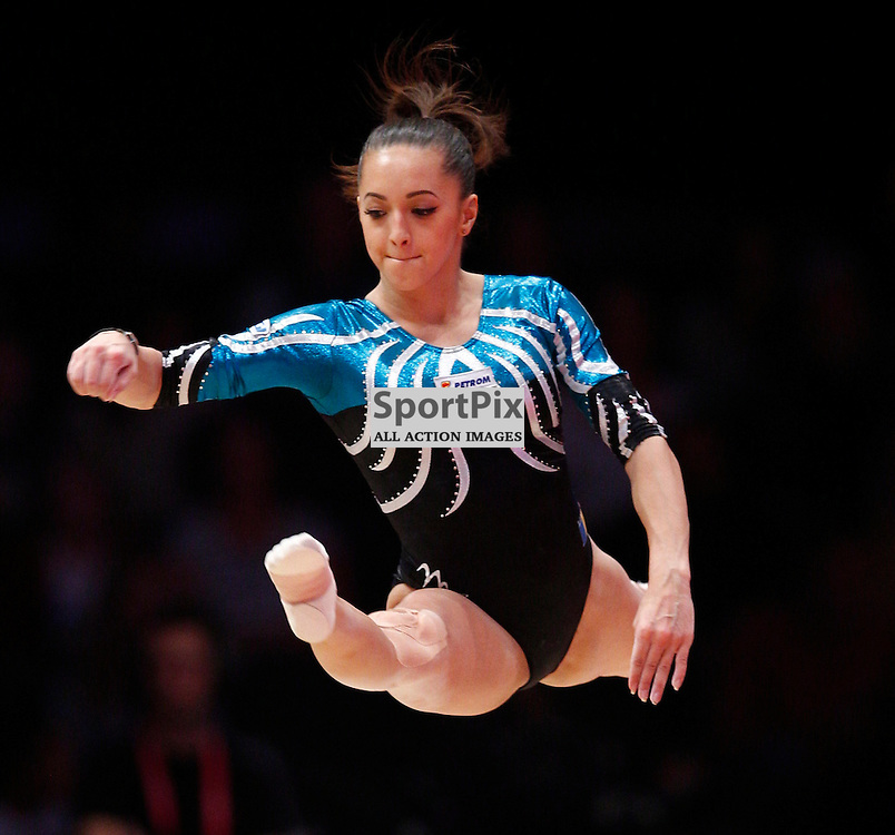 2015 Artistic Gymnastics World Championships being held in Glasgow from 23rd October to 1st November 2015.....Larisa Andreea Iordache (Romania) performs in the Floor Exercise in the Women's All-Round Final...(c) STEPHEN LAWSON | SportPix.org.uk