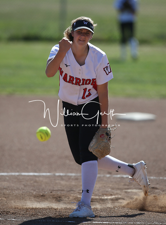 Piedmont Hills vs Westmont in a BVAL Softball Game at Westmont High School, Campbell CA on 4/20/18. <br />