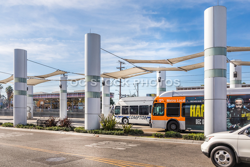 Metro Local Buses Parked at Compton Blue Line Station