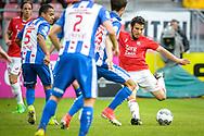 20-05-2017: Voetbal: FC Utrecht v SC Heerenveen: Utrecht<br /> <br /> (L-R) FC Utrecht speler Yassin Ayoub legt aan voor een schot tijdens het Eredivisie duel tussen FC Utrecht en Heerenveen op 20 mei 2017 in stadion Galgenwaard tijdens 1/2 finale play-offs <br /> <br /> 1/2 finale Play-offs, Eredivisie - Seizoen 2016 / 2017<br /> <br /> Foto: Gertjan Kooij