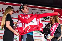 12.07.2019, Kitzbühel, AUT, Ö-Tour, Österreich Radrundfahrt, Siegerehrung der 6. Etappe, von Kitzbühel nach Kitzbüheler Horn (116,7 km), im Bild Gesamtsieger Ben Hermans (Israel Cycling Academy, BEL) // Gesamtsieger Ben Hermans (Israel Cycling Academy, BEL) during the winner ceremony of the 6th stage from Kitzbühel to Kitzbüheler Horn (116,7 km) of the 2019 Tour of Austria. Kitzbühel, Austria on 2019/07/12. EXPA Pictures © 2019, PhotoCredit: EXPA/ JFK